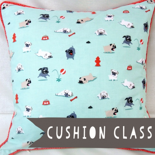 Make a cushion cover sewing class