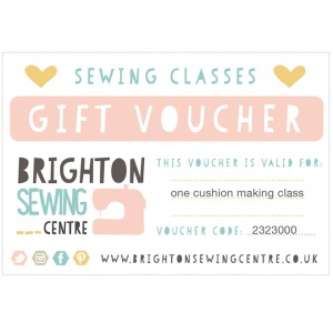 Cushion making class gift voucher