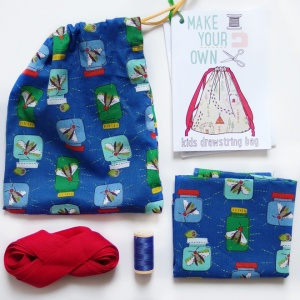 Make Your Own - kids drawstring bag kit
